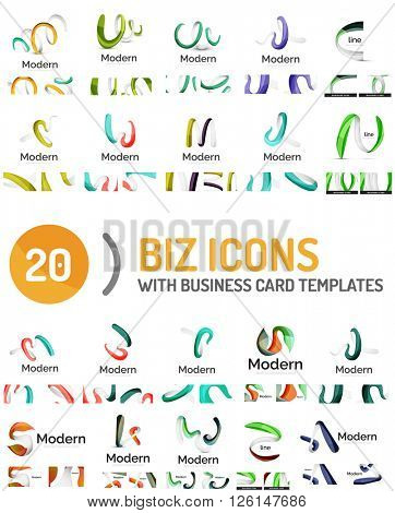 Large vector set of business line logos