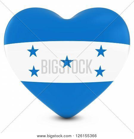 Love Honduras Concept Image - Heart Textured With Honduran Flag