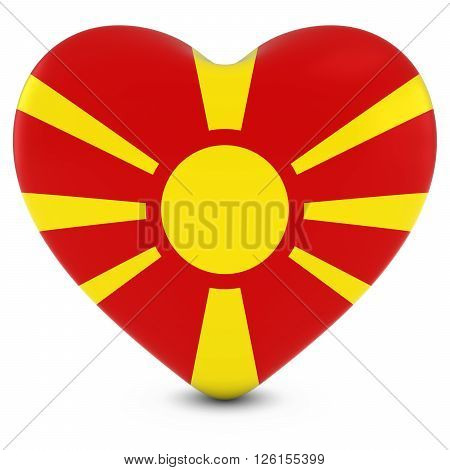 Love Macedonia Concept Image - Heart Textured With Macedonian Flag