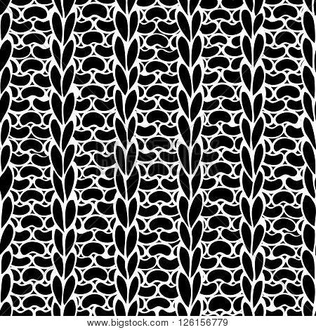 Seamless Ribbing Stitch Silhouettes Pattern.