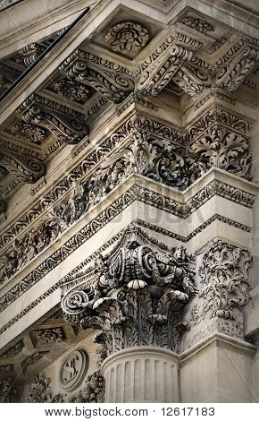 Neoclassical architecture detail