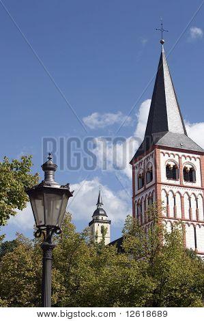 Church in a german town