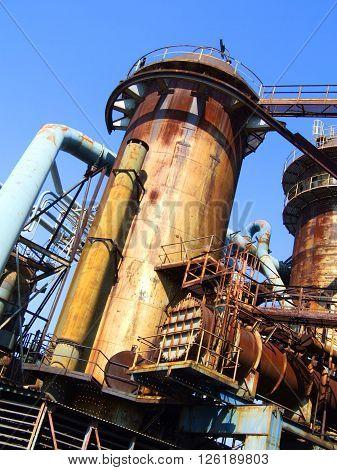Blast Furnace, The Lower Vitkovice Area, Ostrava, Czech Republic  / Blast Furnace In Metallurgical Area Of Dolni Vitkovice