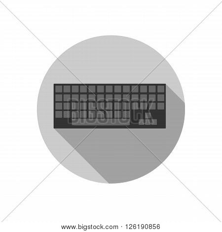 keyboard on a gray background made ??in flat design