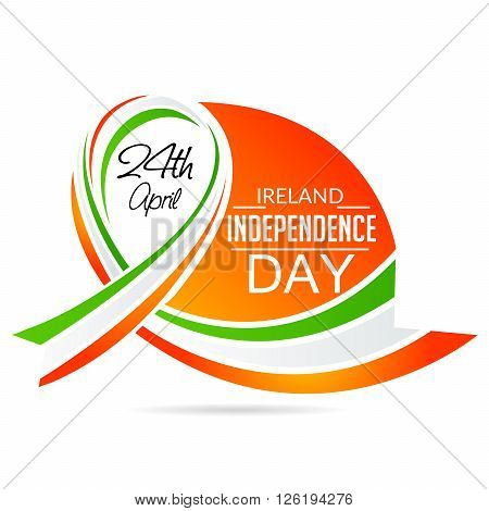 illustration of a ribbon for Ireland Independence Day.