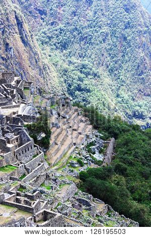 Macchu Picchu on the background of the mountains