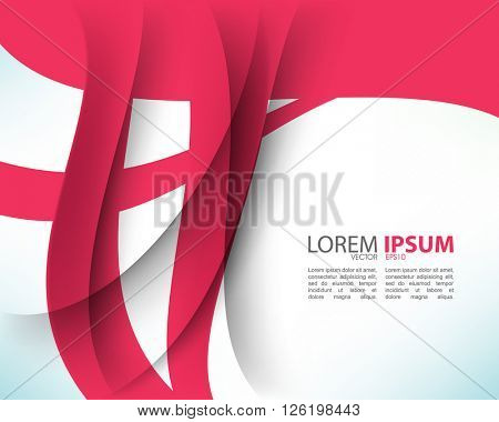 eps10 vector wave with intersecting shadows abstract corporate design