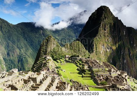 South America Peru Machu Picchu the lost ancient incas town on the Inka Trail Lost City