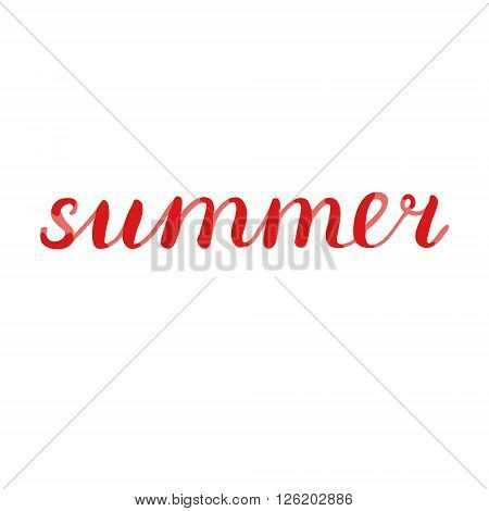 Summer lettering. Brush hand lettering. Great for beach tote bags, t-shirts, posters, cards and more.