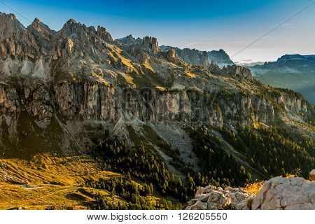 Alpen Rosengarten Berge Dolomiten hoch natur wild himmel wandern