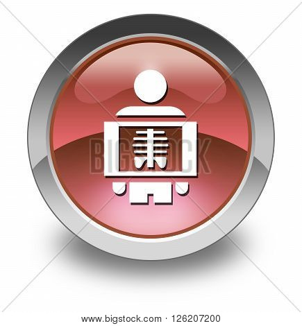 Image Photo Icon Button Pictogram with X-Ray symbol