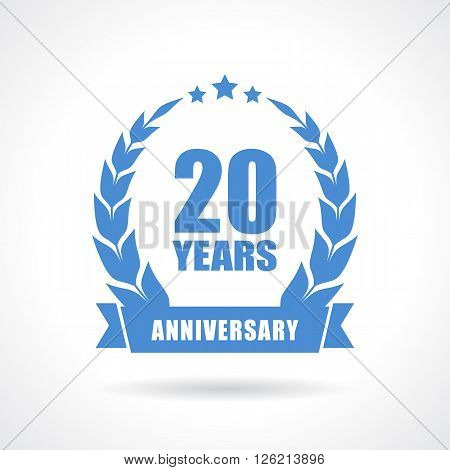 20 years anniversary icon isolated on white background