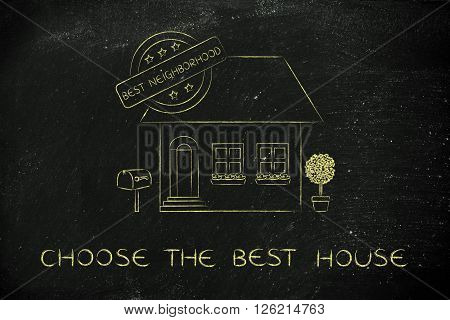House With 5 Stars Rating & Best Neighbirhood Sign, Best House