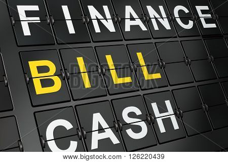 Money concept: Bill on airport board background