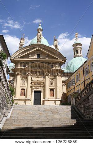 Mausoleum Of Franz Ferdinand Ii And Cathedral, Graz, Austria
