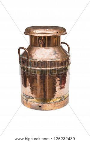 A Copper Milk Churn