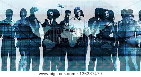 Team Spirit On a Mission in Business 3D Illustration Render