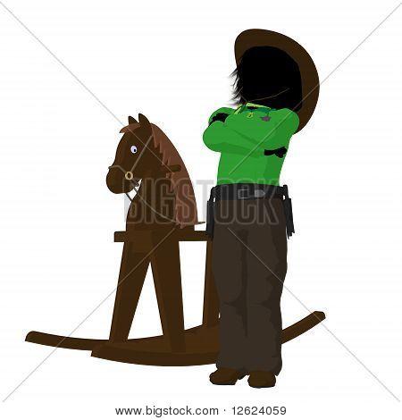 Teen Cowboy Illustration