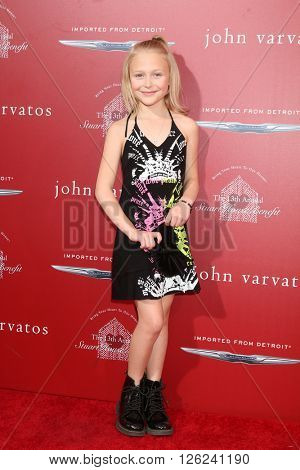 LAS VEGAS - APR 17:  Alyvia Alyn Lind at the John Varvatos 13th Annual Stuart House Benefit at the John Varvatos Store on April 17, 2016 in West Hollywood, CA