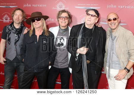 LAS VEGAS - APR 17:  Robin Zander, Tom Petersson, Rick Nielsen, Daxx Nielsen, John Varvatos at the 13th Annual Stuart House Benefit at the John Varvatos Store on April 17, 2016 in West Hollywood, CA