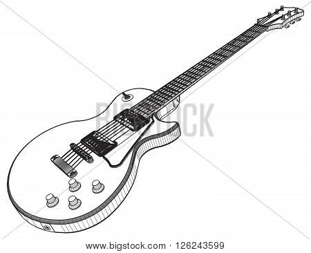 Electric Guitar Vector 10.eps