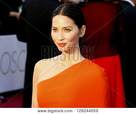 Olivia Munn at the 88th Annual Academy Awards held at the Dolby Theatre in Hollywood, USA on February 28, 2016.