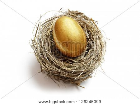 Gold nest egg concept for retirement savings and financial planning