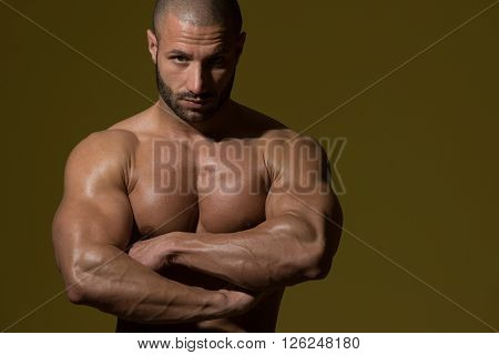 Man Showing His Well Trained Body