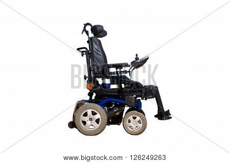 4 wheel motorised wheelchair for disabled people isolated