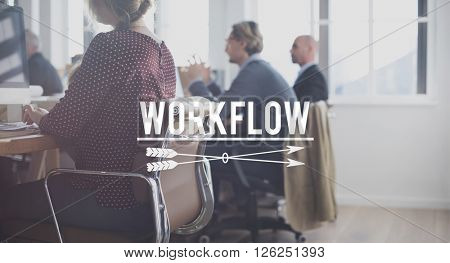 Business Working Connection Workplace Busy Concept