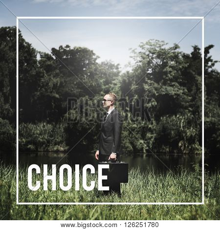Choice Direction Decision Opportunity Concept