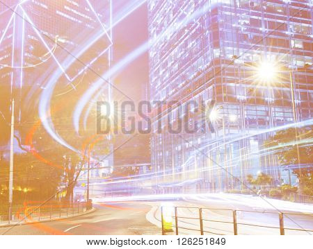 Urban scene of Hong Kong.