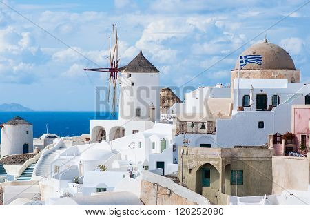 City viewpoint of Santorini island, Oia, Greece