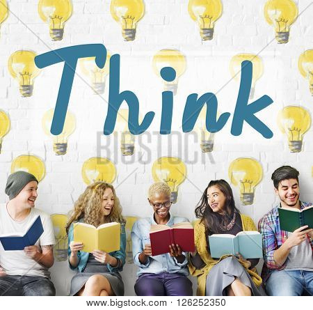 Think Thinking Thoughful Inspiration Attractive Concept
