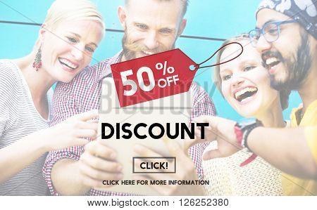 Discount Half Price Marketing Promotion Consumer Concept