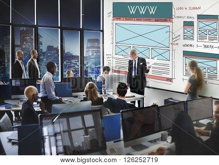 WWW Website Internet Technology Network Social Concept
