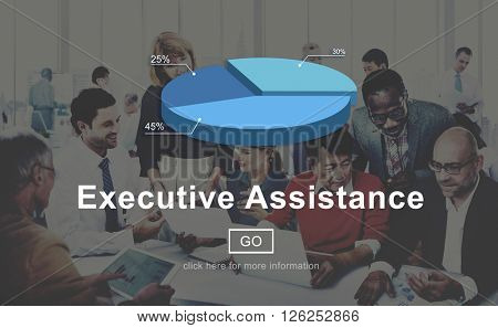 Executive Assistance Business Collaboration Helping Concept