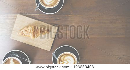 Coffee Croissant Breakfast Refreshness Concept