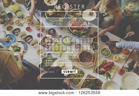 Register Application Apply Enter List Membership Concept