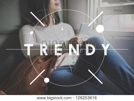 Trendy Design Fashion Modern Style Marketing Concept