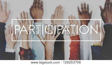 Participation Join Help Involvement Concept