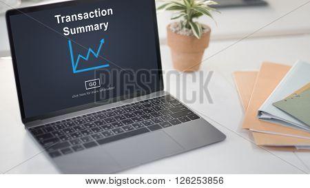 Transaction Summary Budget Balance Account Concept