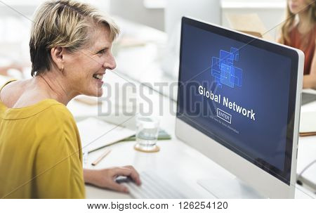 Global Network Internet Technology Online Connection Concept