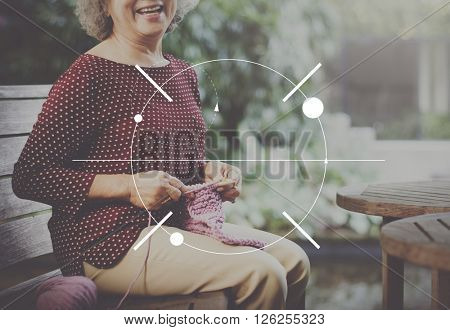 Woman Sitting Smiling Icon Symbol Graphic Concept