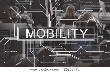 Mobility Mobile Contemporary Connection Concept
