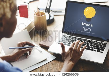 Ideas Knowledge Innovation Aspiration Inspiration Concept