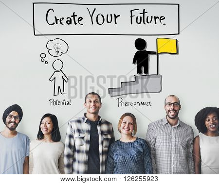 Create Your Future Aspiration Goals Concept