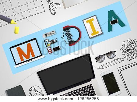 Media Entertainment Broadcast Communication Multimedia Concept