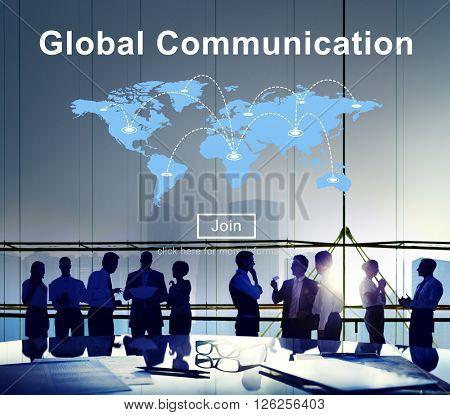 Global Communication Information Message Concept