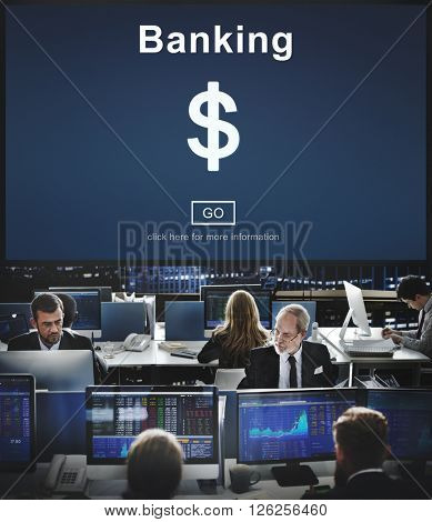 Financial Banking Business Accounting Concept